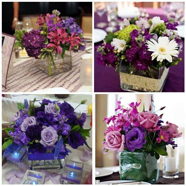 Purple wedding table centerpieces ideas pinterest
