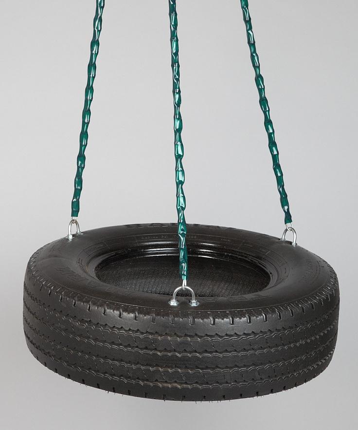 frontier swings three chain tire swing