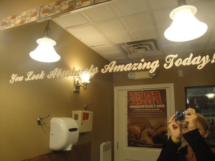 This Was In A Random Public Restroom Every Bathroom Mirror Should