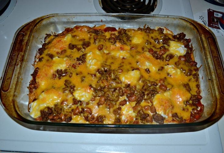 Delicious beef and bean enchilada casserole   Beef and Pork ...