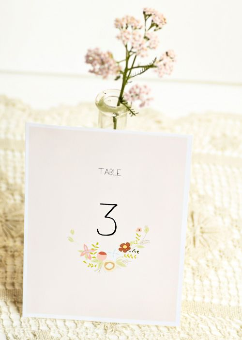 Free printable table numbers for Table 52 number
