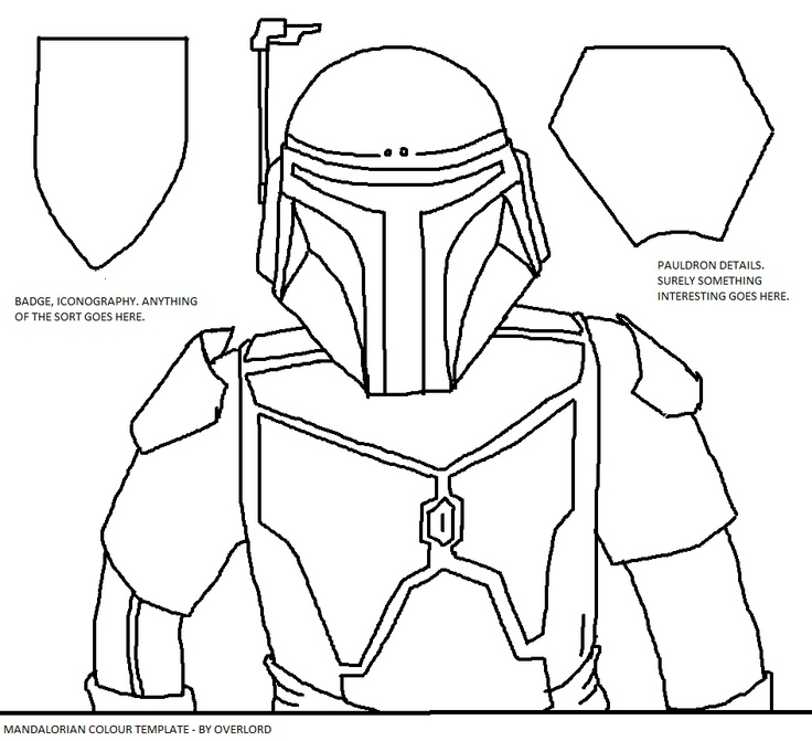 Mandalorian colour template. | Mandalorians | Pinterest