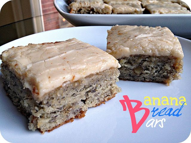 "she says ""these should be illegal in all 50 states""...  with a catchline like that, I gotta try them.   >>  Banana Bread Bars with Brown Butter Frosting"