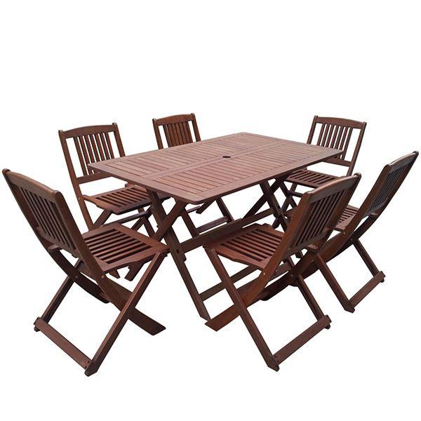 Table basse de jardin en bois exotique Salon de jardin bas bois exotique