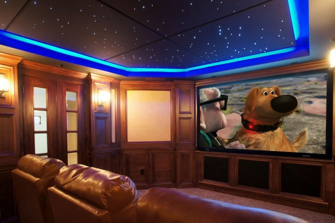 Home theatre dream space pinterest - Stunning images of basement home theater decoration design ideas ...