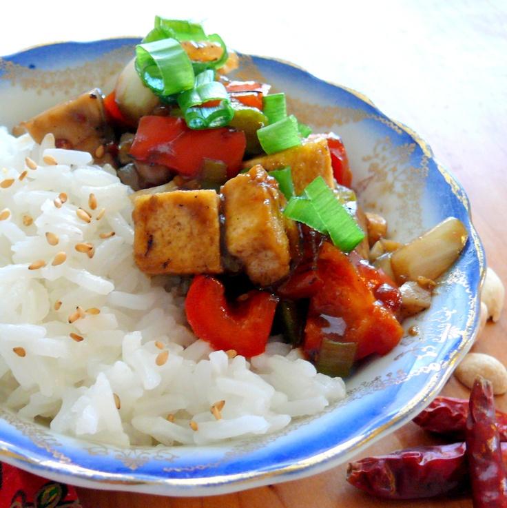 Kung Pao Tofu and Veggies, tasty vegetarian meal :)