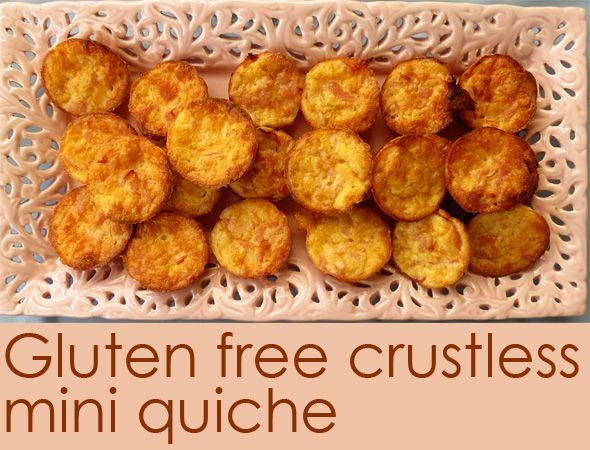 Gluten Free Crustless Mini Quiche Recipe