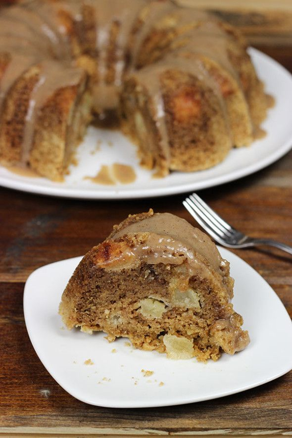 Apple Cake with Cinnamon Bourbon Glaze Recipe ~ Yummy... PERFECT FOR ...