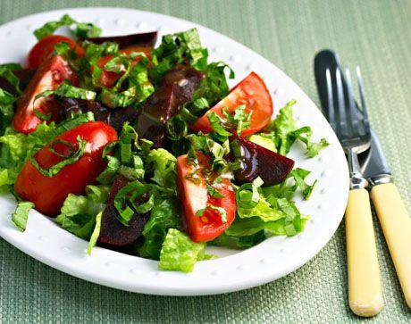 Tomato, Beet and Basil Salad @Lydia Walshin #salad #vegan