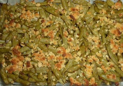 ... olive oil, 2 T Parmesan, 2 T bread crumbs; bake 350 for 15-20 minutes