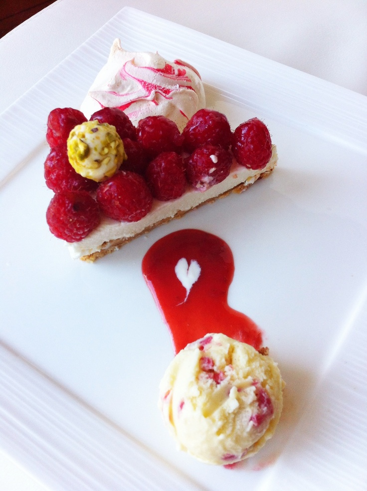 ... almond meringue with raspberry sorbet recipes dishmaps almond meringue