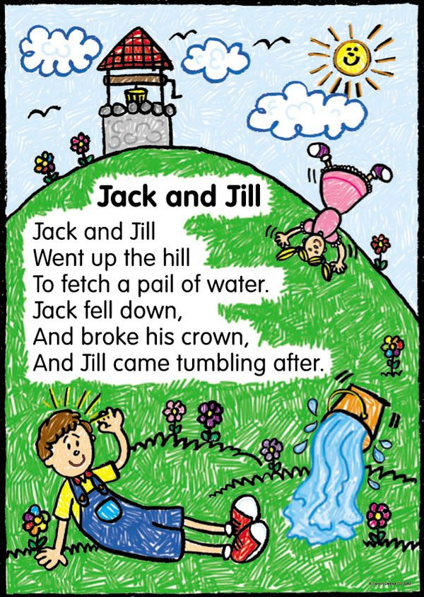 Nursery rhymes shared reading pinterest for Jack and jill stories