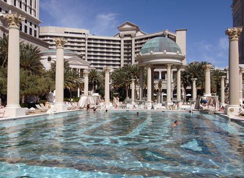 swimming pool at caesars palace travel las vegas