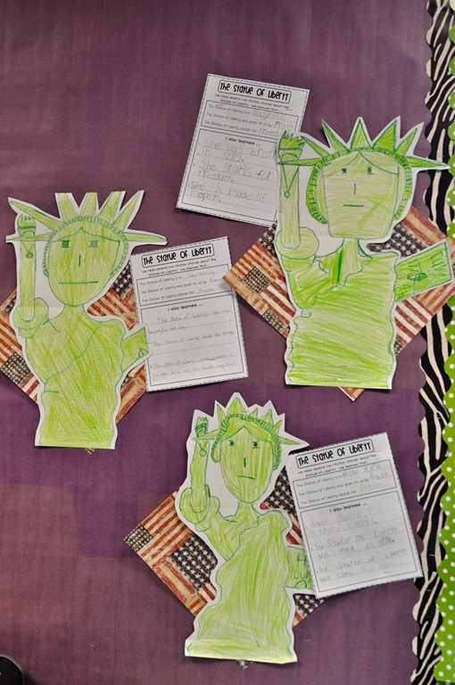 how to draw the statue of liberty for kindergarten