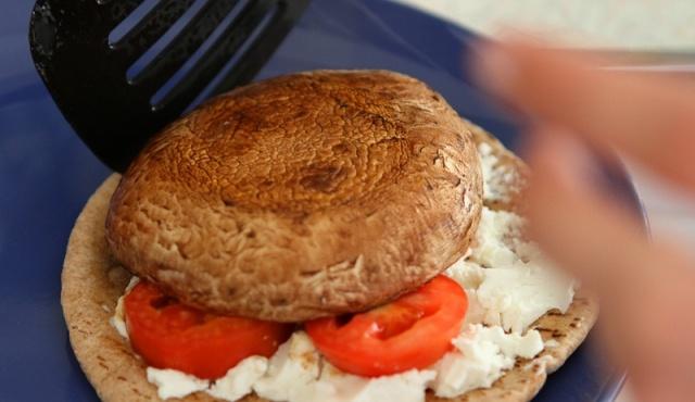 Grilled Portabella Mushroom & Goat Cheese Pita's {Via Goat Show Doc}