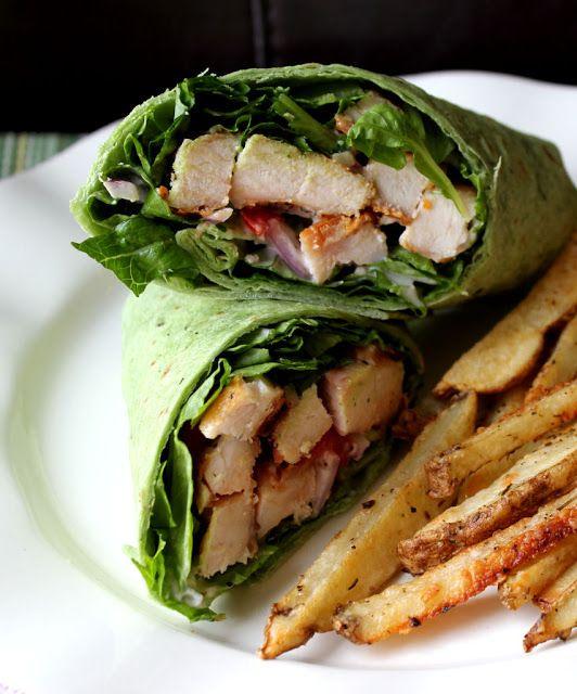 Grilled Chicken Caesar Wrap | Om Nom Nom Savory | Pinterest