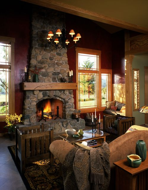 Craftsman Style Living Room Craftsman Style Homes