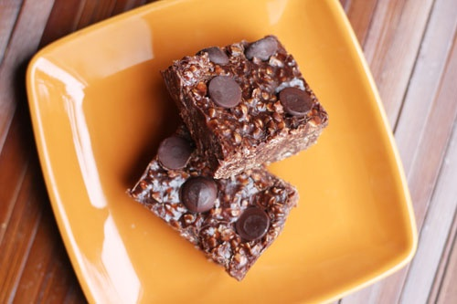 No Bake Chocolate Peanut Butter Oat Bars
