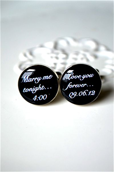 Marry Me Tonight Cufflinks (by white truffle studio)