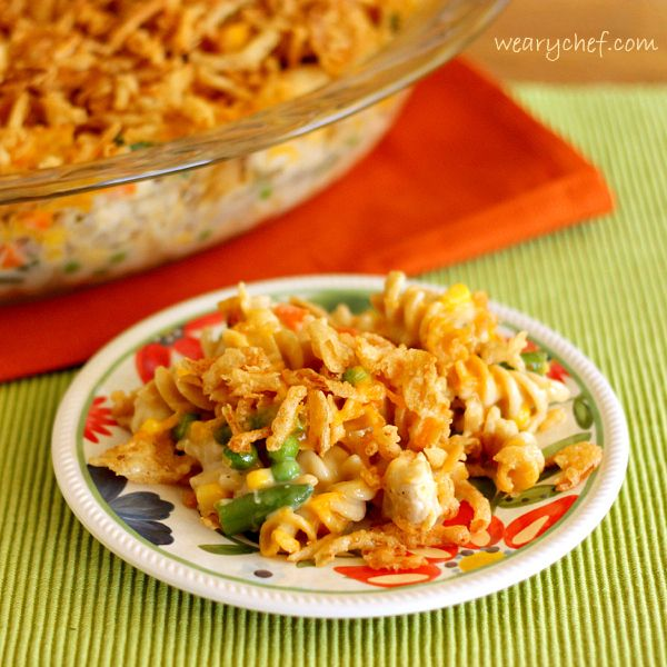 Crunchy Chicken Noodle Casserole PLUS Holiday Side Dish Ideas