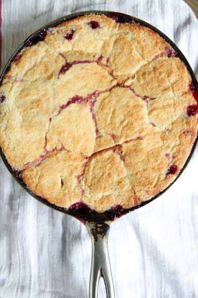 Blackberry Slump Blackberry Skillet Cobbler from The Dreaming Foodie