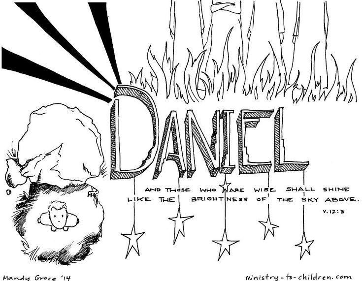 book of daniel bible coloring page dibujos b blicos
