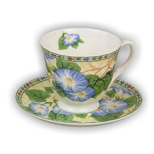 Blue Morning Glory English Tea Cup an... $19.95 #bestseller