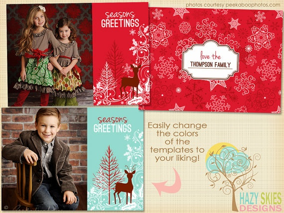 5x7 Digital Photo Card Templates - HC101. $7.50, via Etsy.: pinterest.com/pin/94997873361008177