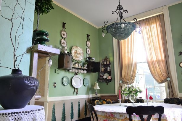 The Smaller Dinning Room Is More Intimate Than The Larger Dining Room