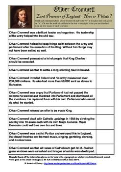 oliver cromwell hero or villain essay year 8 Kilauea mount etna mount yasur oliver cromwell hero or villain year 8 essay mount nyiragongo and nyamuragira piton de la fournaise erta ale latest breaking news.