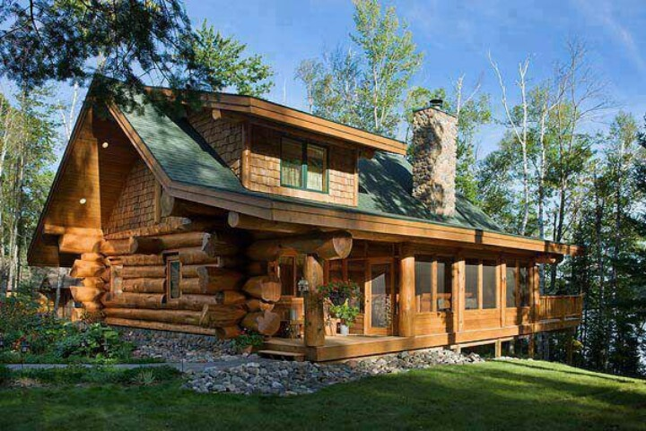 Log Home Beautiful Home Pinterest