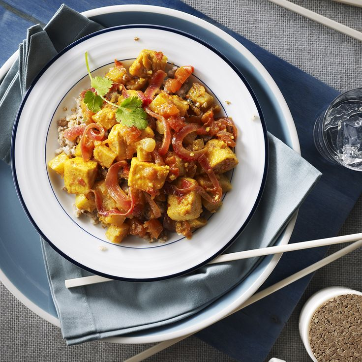 Potato & Chicken Curry Stir-fry with Roasted Buckwheat | Recipe