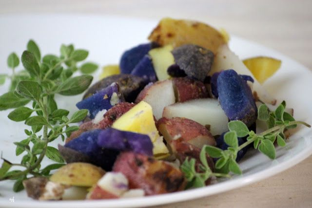 Rose, Gold, and Purple Potato Salad with Mustard Curry Vinaigrette ...