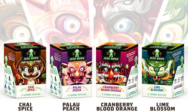 ... Chai Spice and Palau Peach. The images on the tins are inspired by