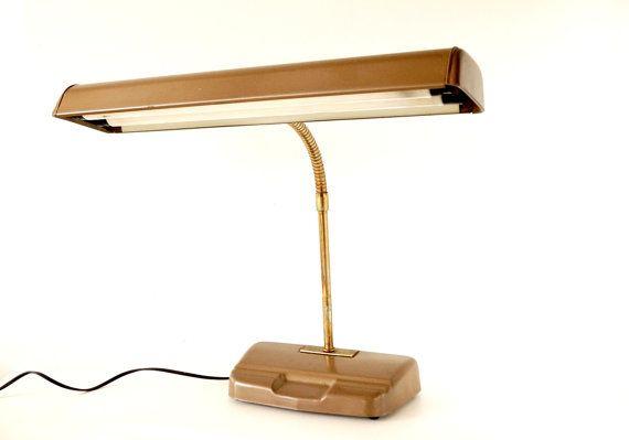 Vintage Industrial Fluorescent Gooseneck Desk Lamp in