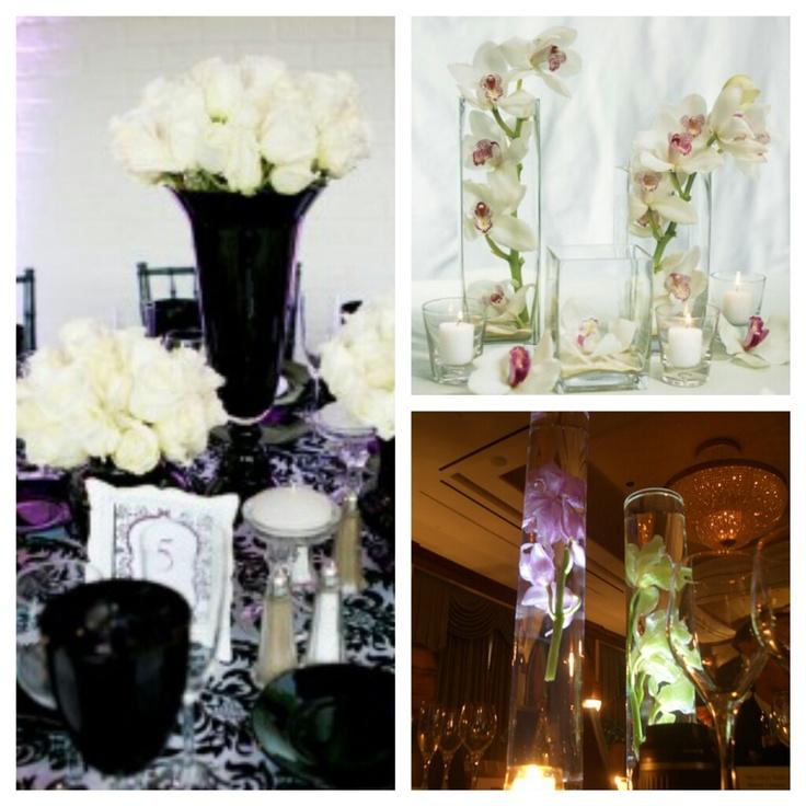 Diy Tall Wedding Reception Centerpieces : Simple diy tall centerpieces leda s wedding