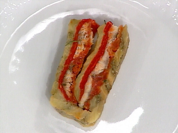 ... never eggplant and red pepper terrine eggplant and roasted red pepper