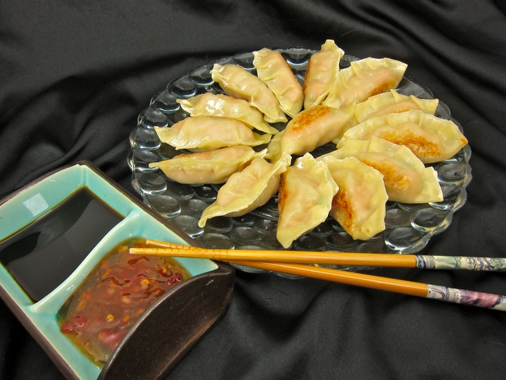 pan fried shrimp and pork potsticker recipe dishmaps fried pork shrimp ...