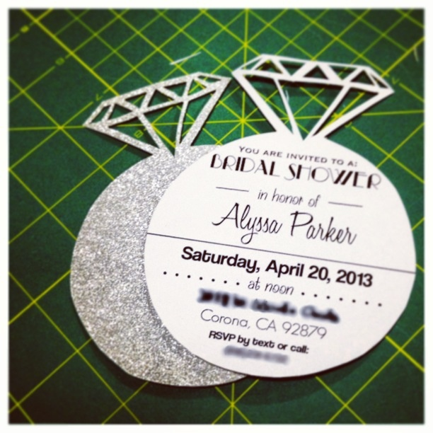 Bridal Shower invitations in an engagement ... | You make me want t...