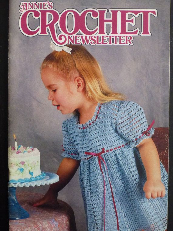 Annies Crochet Newsletter May/June 1992 no57 by CarolsCreations77, $4 ...