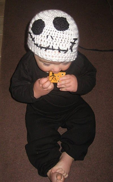 Free Crochet Pattern For Jack Skellington : Pin by CROCHET CURATOR on Hats - Free Crochet Patterns ...