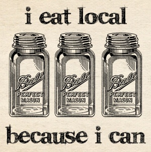 I Eat Local Because I Can - a challenge by Two Frog Home.  @Kathie Lapcevic will be sharing all sorts of canning information and doing some fun giveaways.