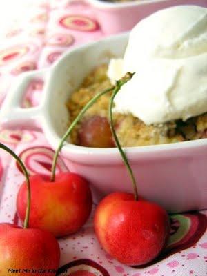 Rainier Cherry Crumble and Vanilla Ice Cream- Philadelphia Style