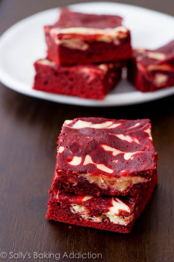 Red Velvet Cheesecake Swirl Brownies by sallysbakingaddiction.com ...