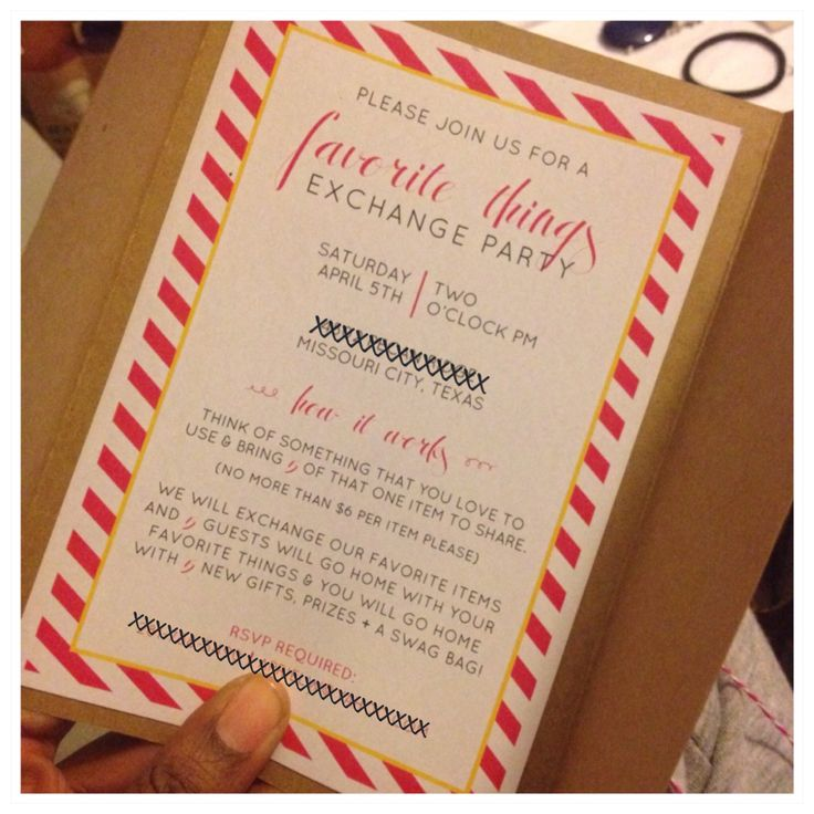 Favorite Things Party Invitation with luxury invitation sample