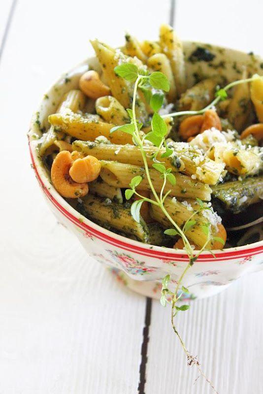 Penne with Dandelion Pesto | Pasta & Noodles | Pinterest