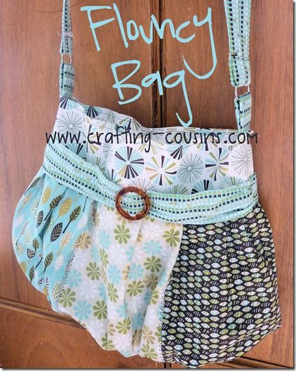 Crafty Cousins' Flouncy Bag Tutorial