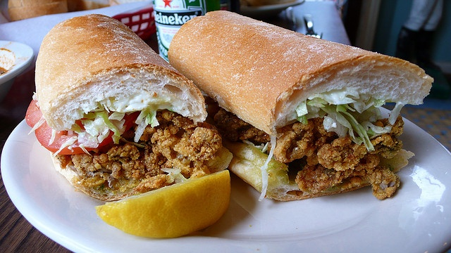Fried Oyster Po' boy | New Orleans | Pinterest
