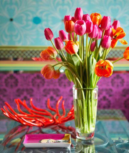 turquoise + tulips