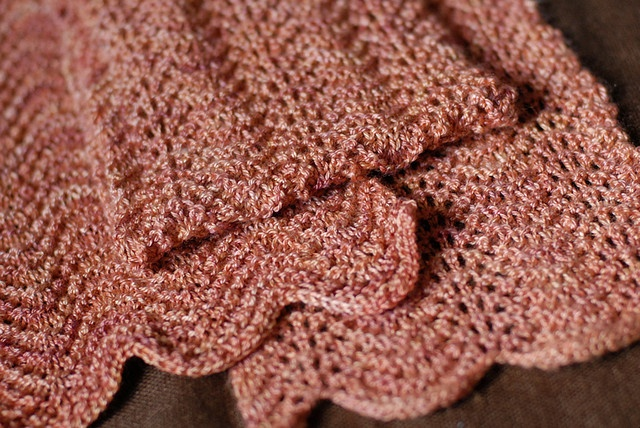 Old Shale Knitting Pattern Afghan : Pin by Susan Potts on Knitted scarves Pinterest